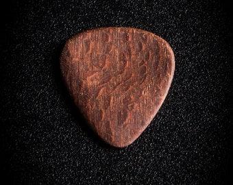 Handmade Leopard Wood Guitar Picks
