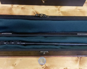 Snape Inspired Wand and Wooden Case