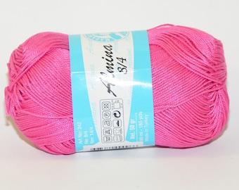 100% Mercerized cotton yarn / Almina Madame Tricote / Pink