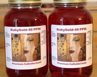 RubyGold-Colloidal Gold 40 PPM-Double Saver Pack