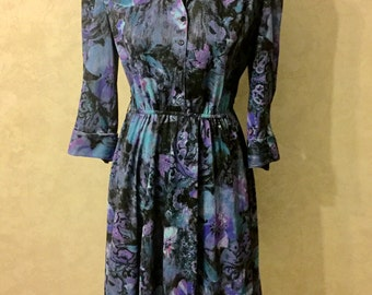 SALE Floral Secretary Dress