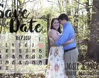 Personalized Save The Date, Customized Printable