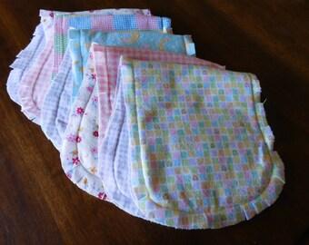 Baby Girl Reversible Burp Cloth