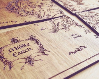 Middle Earth Place Mats (Lord Of The Rings & Hobbit)