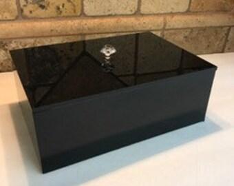 Elegant Black Cremation Urn