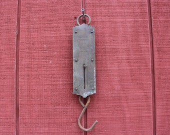 Vintage hanging scales, Chatillons Improved Spring Balance New York, Hanging scales, Antique Hanging Scales