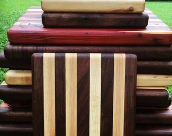 Hand crafted solid wood cutting boards