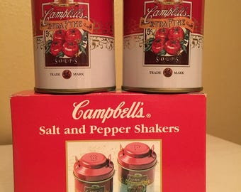 Campbell's Salt and Pepper Shakers - original box - never used