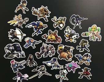 Overwatch Pixel Stickers all Heroes [including Orisa]