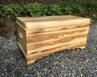 Solid Hickory Chest, with Cedar Bottom - the small size is: