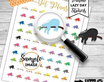 Planner Stickers, Lazy Day Stickers. Printable Planner Stickers, Scrapbook Stickers, Printable Stickers