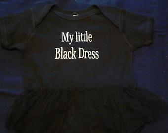 Baby My Little Black Dress Ruffled Onesie