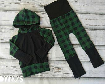 Kit hoodies 36months 9 + evolutionary 6 36months tile green and black pants
