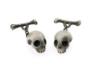 Skull and Bone Cufflinks