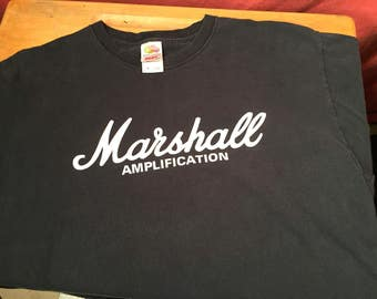 Vintage Retro Super Cool Marshall Amplification t-shirt shirt black extra large XL