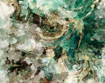 Teal Abstract Art, Minimalist Art, Abstract Art Print, Modern Prints, Teal Art Print, Canvas Print of Teal Painting, Abstract Painting Print