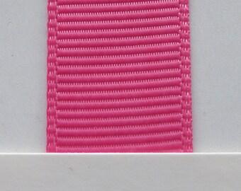 "1"" / 26mm Grosgrain Ribbon in Hot Pink #156 x 2 meters"