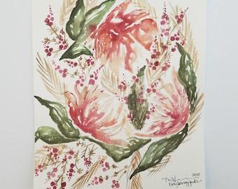 "8""x10"" - Wildflowers and Berries"