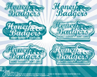 Honey Badger Don't Care! - Cricut - Clipart - Scrapbooking - Digital Files - BFCR006