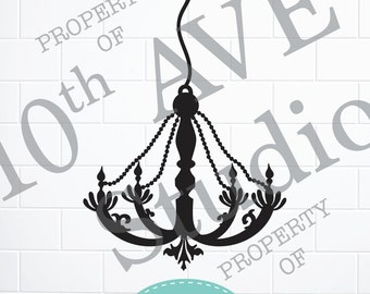 Chandelier SVG/PNG/EPS Clipart and cut files