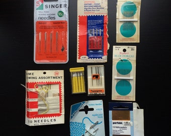 Vintage Lot Of Sewing Needles Singer Prims Leather Milward Perfekt Crafters AS IS