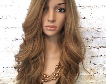 "100% Human Hair Wig Sheitel 22"" Rooted Blonde"