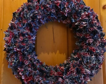 Red, White & Blue Calico Wreath