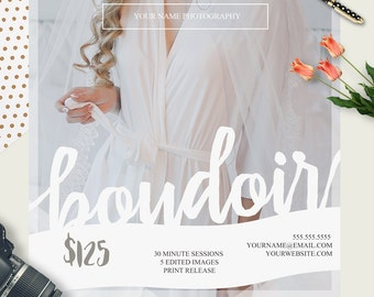 Boudoir Mini Session Template  | Photography Template | Photographer Resources | M08