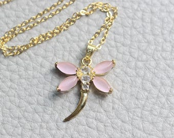 Butterfly Necklace with catstone jewelry