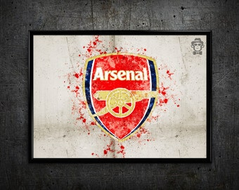 Arsenal print Arsenal logo home decor wall art