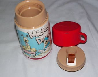 Vintage Mickey And Donald Thermos