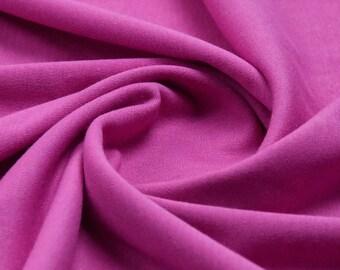 Plain Cerise 100% Cotton Interlock Double Jersey Fabric - per meter
