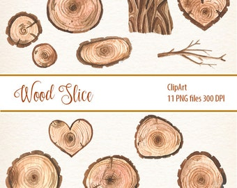 Wooden Slices, Wood clipart, board, frames, quotes, heart