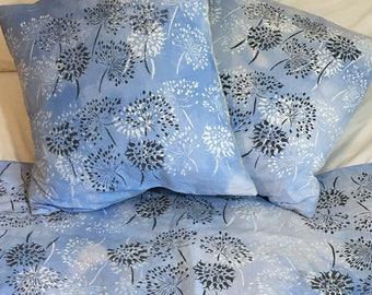 Screen Printed Agapanthus Cushions
