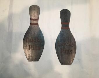 "Steel ""lucky"" pins"