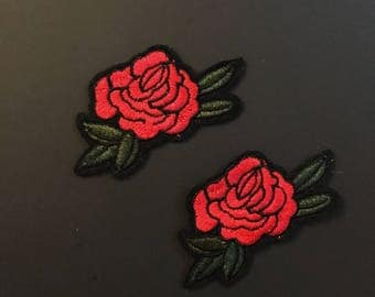 Embroidery Patch-Gucci Style Patch-Patches-Iron on Patch-Shoe flower Patch-Rose Patch-Flower Applique-Flower Embroidery-Gucci Inspired Patch