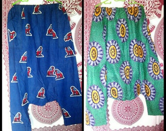 African wax print baggy harem pants