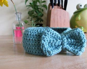 Hand Crochet Baby Bow Headband