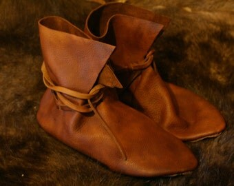 Viking / Medieval style leather shoes