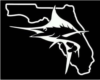 Florida Marlin offshore fishing decal sticker vinyl