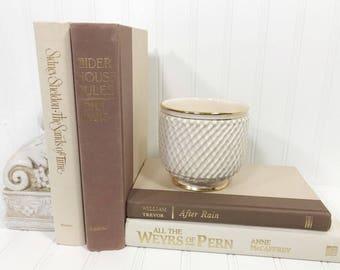 Tan and Brown Decorative Book Set