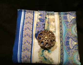 Royal Blue Flower Tea Wallet