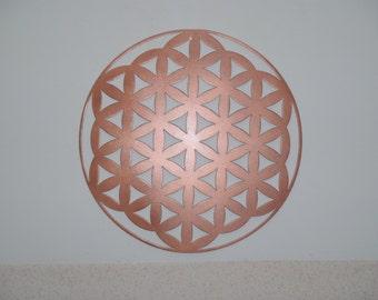 "Flower Of Life, Metal Art - ""Copper"", 23.5"" (60 cm)"