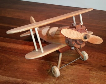 Wood airplane fir and mahogany