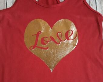 LOVE foil heart - Valentine's Heart shirt