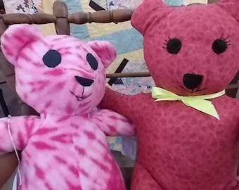 Hand-Made Cuddle Bears - The Tie-Dye Couple