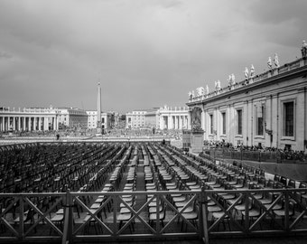Vatican, Rome, Italy, Black and White, Italy Print, Photographic Print, Architectural Photo, Rome Photo, Italy Photography, Architecture