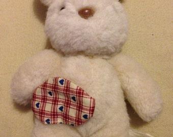 Rabbit teddy with colostomy bag