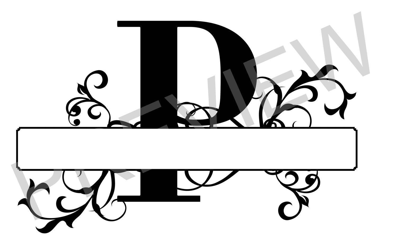 Split P Home Decor: Split Monogram SVG, Letter P Regal Split Alphabet, Vector