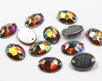 50pcs Sew On Flatback Resin Gems 0959f9ecfd57